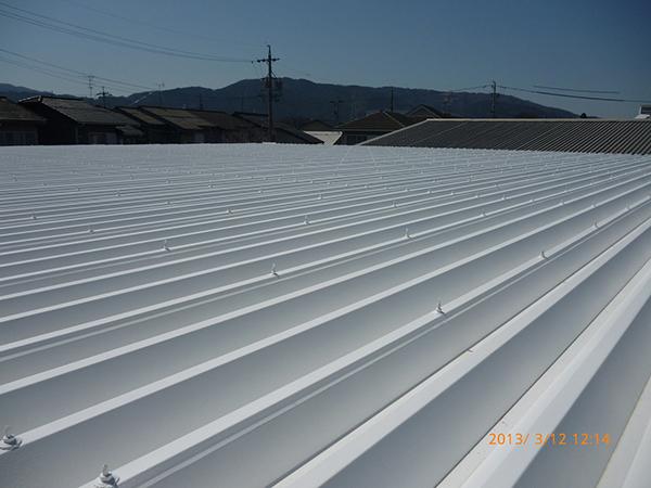 株式会社E様 折板屋根 アドグリーンコート施工事例