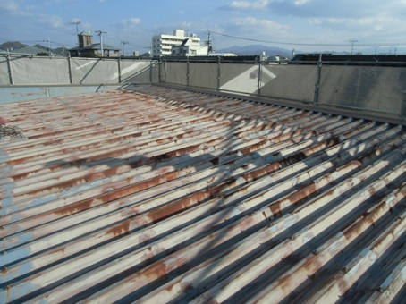 K商会様 屋根遮熱塗装工事