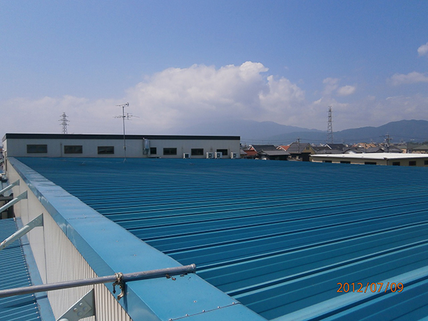 S工業株式会社様 折板屋根 アドグリーンコート施工事例