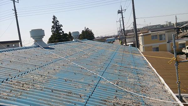 T工業株式会社様 スレート屋根防水遮熱塗装工事