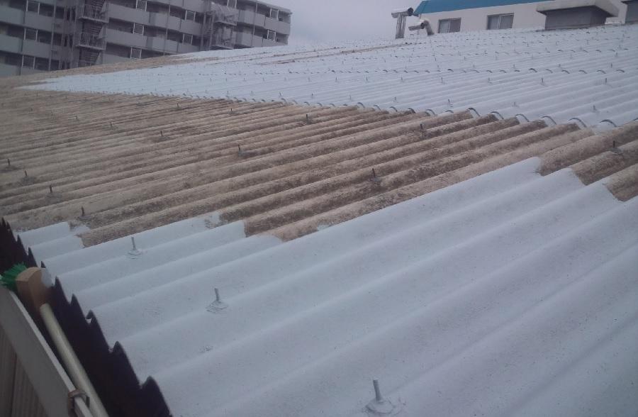 埼玉県川口市 工場大波スレート屋根塗装工事