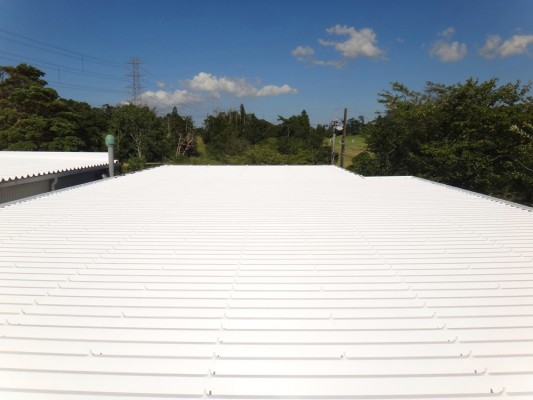某薬品会社 屋根遮熱塗装工事