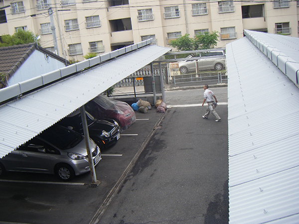 ガレージ アドグリーンコートEX-012α 施工事例