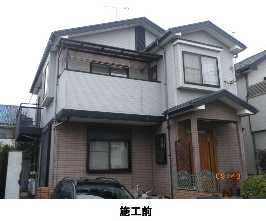 【EX-020α,EX-001α,GL調色】千葉県N様邸 屋根・外壁遮熱塗装