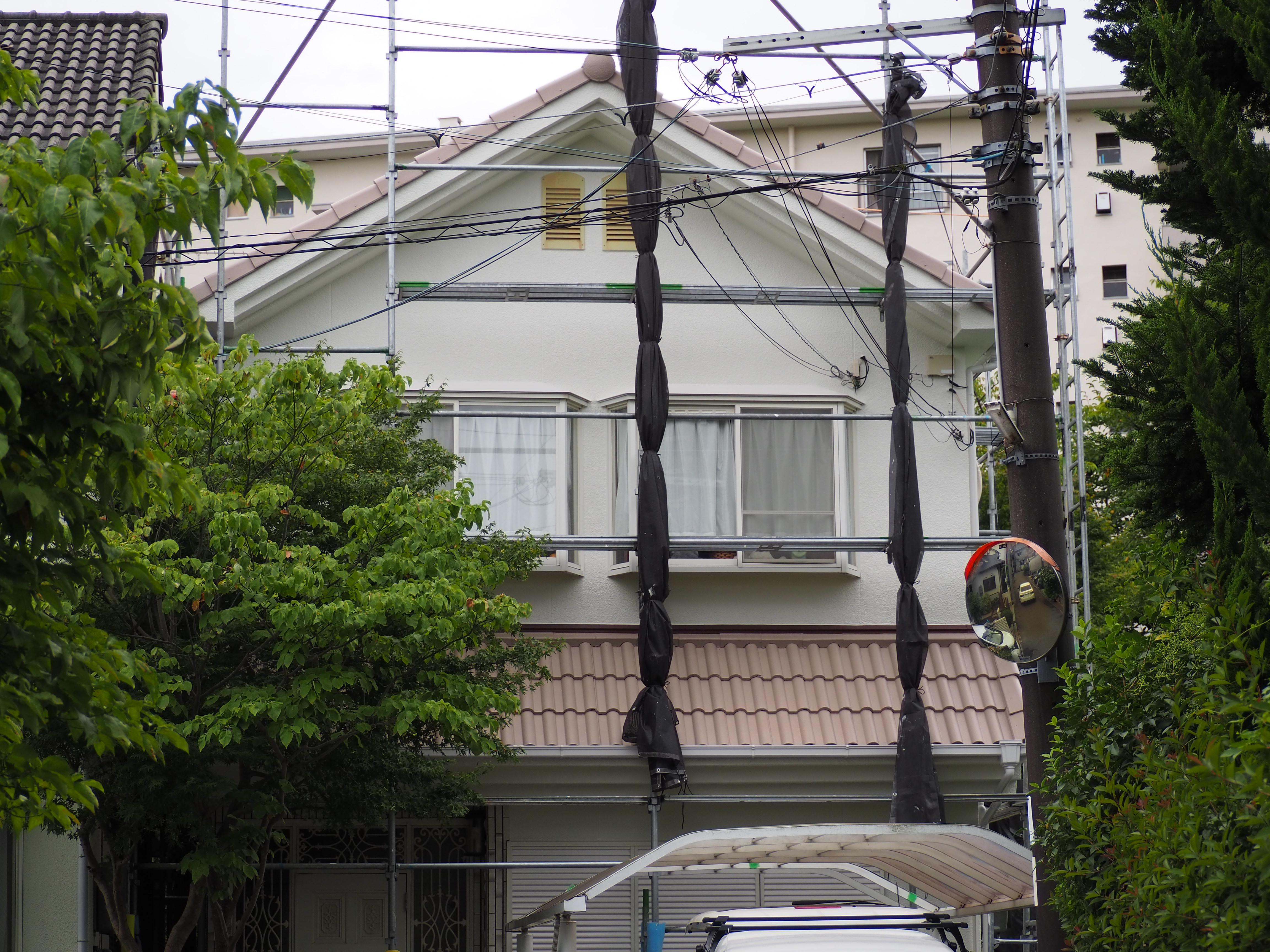 【GL034,GL030】大阪府H様邸 屋根・外壁遮熱塗装施工事例